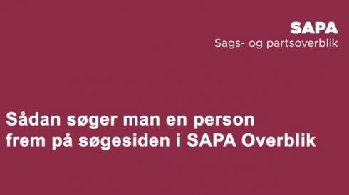 SAPA-demo_ Sådan fremsøger man en person i SAPA Overblik